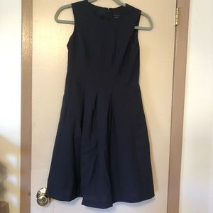 Theory dark navy/black a-line dress in sz 0